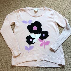 Euc Kate Spade pale pink sweater, high low hem!